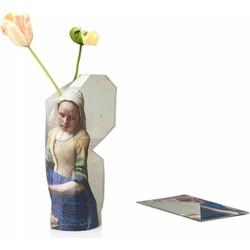 Paper Vase Cover 'Milkmaid' by Vermeer