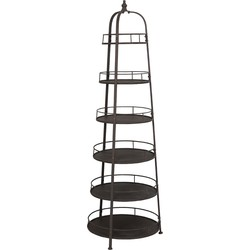 Light&Living Etagere Leira Koper 6 Laags 192.5 x 63.5 x 60