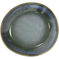 HK-living bord ontbijtbord keramiek moss seventies style Ø 22 cm