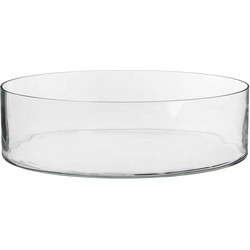 Mica Decorations schaal rond dalio glas maat in cm: 11 x 39 transparant