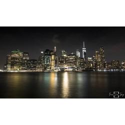"""New York Late night"" op Dibond 120cm"
