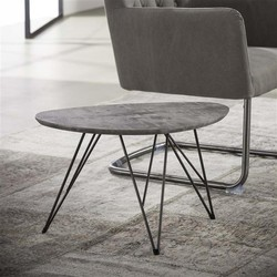 Salontafel Nier 60x40 3d texture/3D betonlook grijs