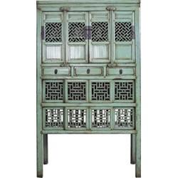 Fine Asianliving Antieke Chinese Kast Met Handsnijwerk Mint (1919-1929)