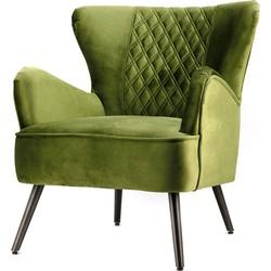Eleonora Fauteuil Daisy Fluweel groen 84 x 71 x 82