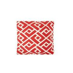 Living by Christiane Lemieux Crewel stitch cushion, red, Red