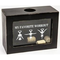 Wijnkastje 'favorite workout'