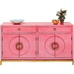 Kare Design Disk Dressoir Pink - 150x50x84 - Roze