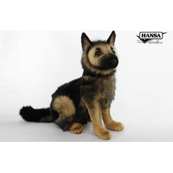 Knuffel Pluche Duitse Herdershond Pup - Hansa Creation