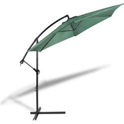 Hangende parasol 300cm - donkergroen - Lifa Living