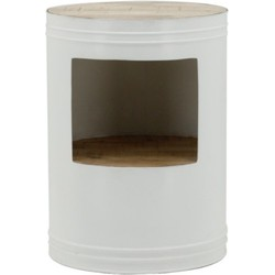 By Boo By Boo Sidetable Barrel White