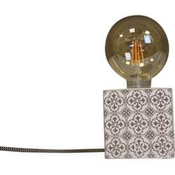 Blok Lamp-10x10cm-incl. grote gloeilamp-Mozaïek-Gold-Housevitamin