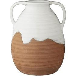 Lene Bjerre Merisa Vaas 19 cm - Wit/Terracotta