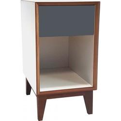 PIX nachtkastje groot met wit frame en grijs voorkant