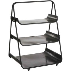 Mica Decorations wally etagere zwart maat in cm: 35 x 30 x 49