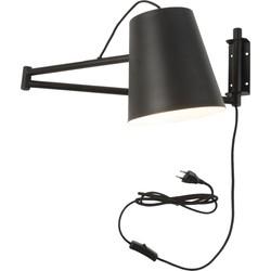 Wandlamp ijzer Brisbane zwart