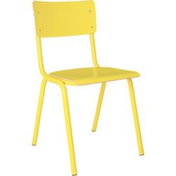 Zuiver eetkamerstoel Back to School Hout geel 83 x 43 x 47