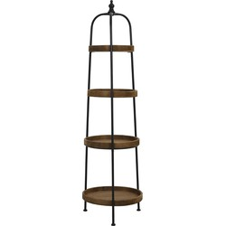 Light&Living Etagere KARSON hout zwart 4 laags 167 x Ø48