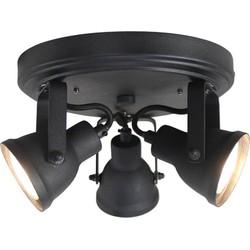 LABEL51 - LED Spot Max 3-Lichts 21x21x14 cm - Industrieel - Zwart
