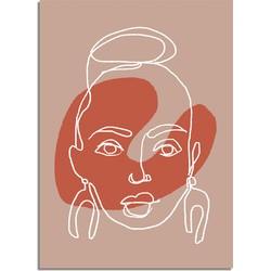 Portret vrouw poster - A3 + fotolijst wit