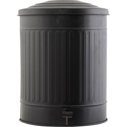 Prullenbak - matt zwart -  49 liters  - House Doctor