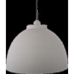 Hanglamp Capri 44 cm Mat Licht Grijs + Witte binnenkant
