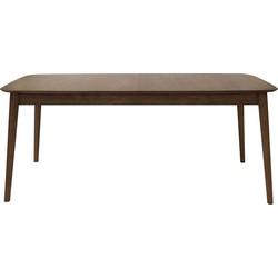 24Designs Montreal Uitschuifbare Eettafel - 180/220x90x75 - Walnoot Hout