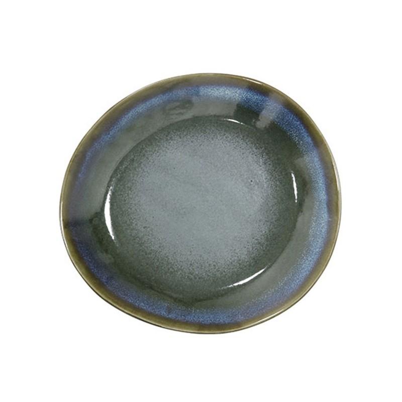 HK-living bord ontbijtbord keramiek moss seventies style Ø 22 cm  -