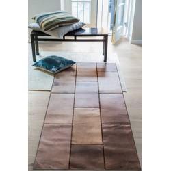 Massimo Leather Rug New brown - 180 x 240 cm