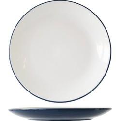 Cosy&Trendy Vince blauw bord Ø 27,5 cm - Set-6