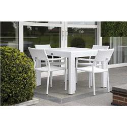 Nancy tuinset wit 1 x 1 met 4 stoelen