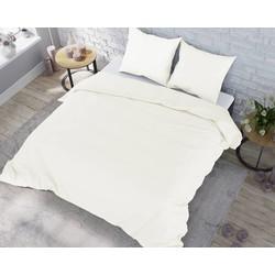 Nightsrest Dekbedovertrek Flanel - Off-White Maat: 1-persoons (140 x 220 cm + 1 kussensloop)