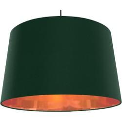 Hue extragrote taps toelopende hanglampenkap, groen en koper