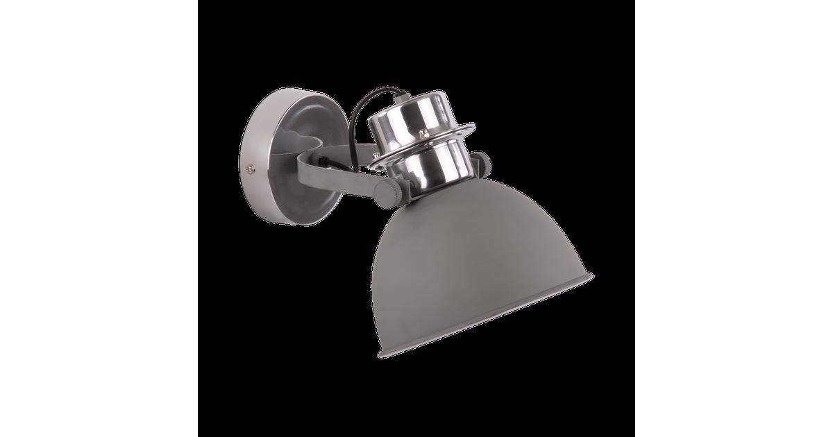 Wandlamp Prato klein Mat Licht Grijs