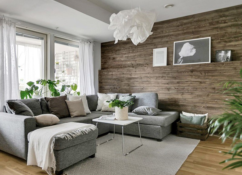 Scandinavisch Appartement Inspiratie : Binnenkijken in scandinavisch appartement met houten muur alles