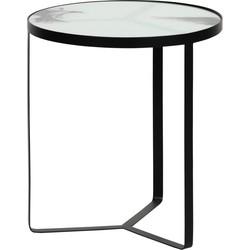 BePureHome Fly Bijzettafel Metaal/Glas ø 45 cm