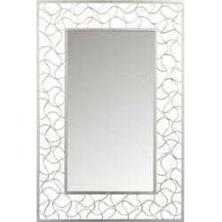 Silver - Spiegel - rechthoekig - metalen kader - zilverkleurug - smeedwerk - 80x120cm