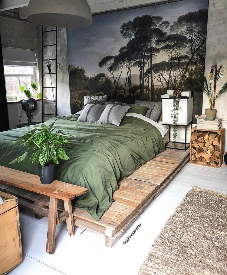 slaapkamer plant sierkussens