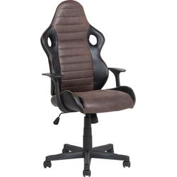 Bureaustoel zwart/bruin hoogteverstelbaar SUPREME