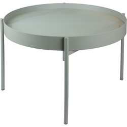 Home Delight salontafel kadro glas metaal khaki 65Ø