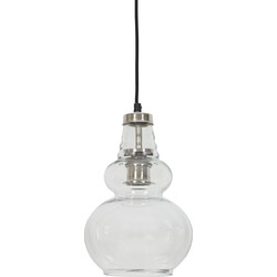 Hanglamp CILE - glas nikkel
