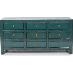 Fine Asianliving Antieke Chinese Amelia Teal Dressoir met Laden
