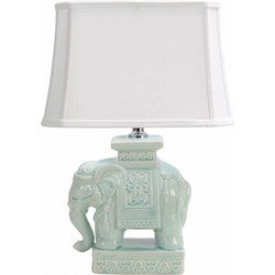 Fine Asianliving Fine Asianliving Oosterse Tafellamp Porselein Olifant Mint