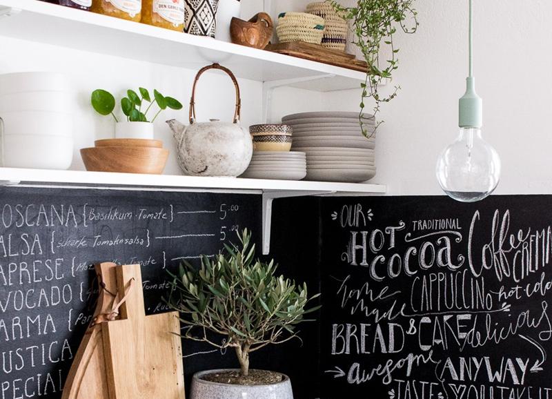 6x waarom een krijtbord in de keuken zo leuk is