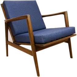 Mid-Century fauteuil Deens Design - blauw