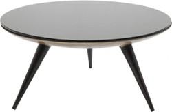 10x Ronde Salontafel : Kare design ronde salontafel secrets 90 cm zwart glazen