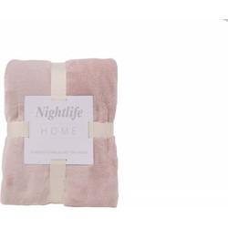 Nightlife - Plaid - Fleece - Lycra / elastaan - Roze