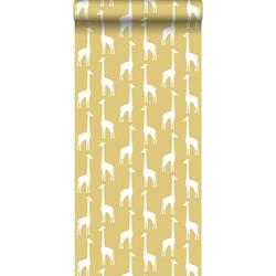 ESTAhome behang giraffen okergeel