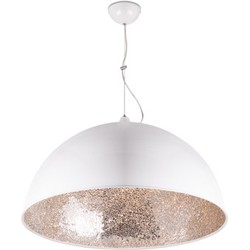 Linea Verdace Hanglamp Cupula Mirror Zilver Ø60 Cm - Wit