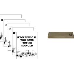 Kaarthouder+5 Kaarten A5 Music-10x15cm-Inclusief houten kaartenhouder naturel-Housevitamin