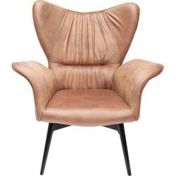 Kare Design Fauteuil Wall Street bruin 106 x 86 x 83